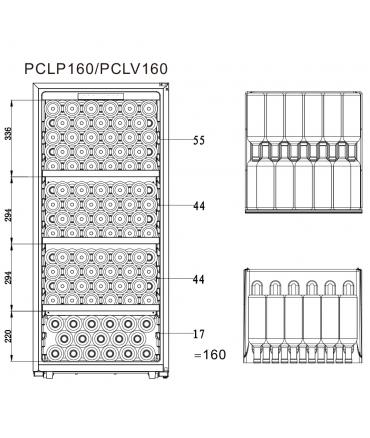 PCLP160 Cave polyvalente plan de chargement 160 bouteilles