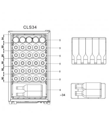 CLS34 Cave de service climadiff plan chargement 34 bouteilles