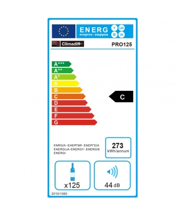 étiquette énergie cave climadiff PRO125