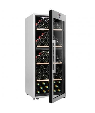 Cave de service double zone 110 bouteilles CLS110MT CLiMADiFF porte semi-ouverte