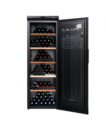 Cave à vin de vieillissement CVP268A++ porte - 264 bouteilles ouverte face