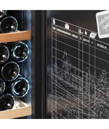 Cave à vin de vieillissement CVP268A++ porte - 264 bouteilles zoom registre de cave