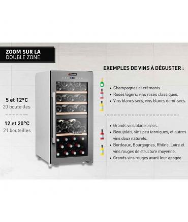 Cave de service double zone 41 bouteilles CLS41MT CLiMADiFF double zone