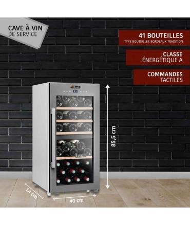 Cave de service double zone 41 bouteilles CLS41MT CLiMADiFF présentation