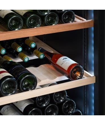Cave à vin de vieillissement CVP268A++ porte - 264 bouteilles zoom clayettes