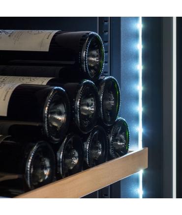 Cave à vin de vieillissement CVP268A++ porte - 264 bouteilles zoom led