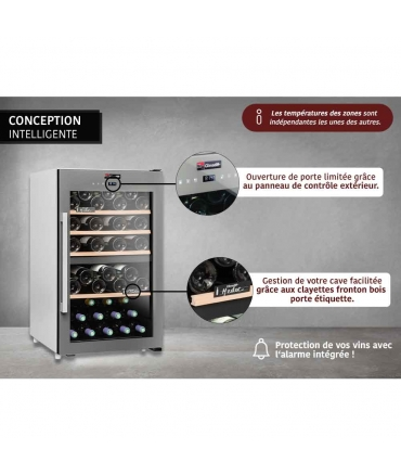 cave de service double zone CLS56MT climadiff conception