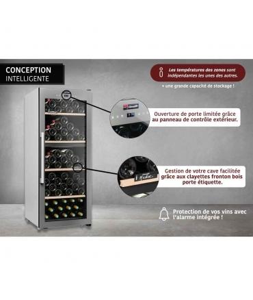 Cave de service double zone 110 bouteilles CLS110MT CLiMADiFF conception