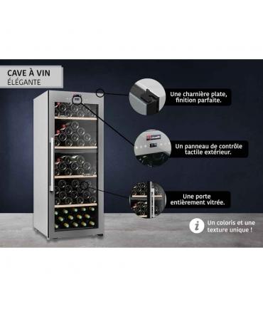 Cave de service double zone 110 bouteilles CLS110MT CLiMADiFF design