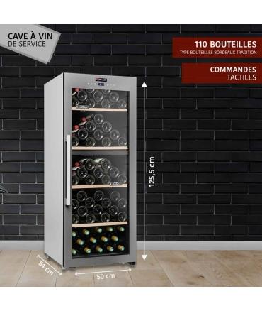 Cave de service double zone 110 bouteilles CLS110MT CLiMADiFF présentation
