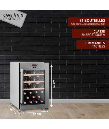 Cave de service 31 bouteilles CLS31 CLiMADiFF présentation