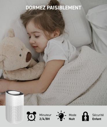 AIRPUR3 - purificateur d'air - mode nuit
