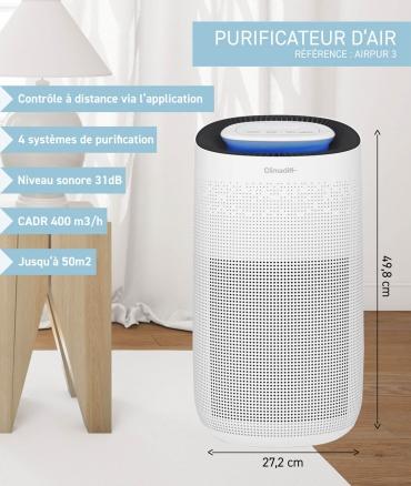 AIRPUR3 - purificateur d'air - dimensions