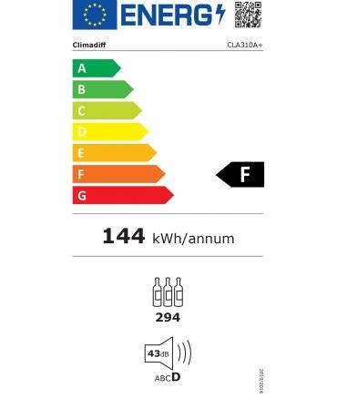 CLA310A+ cave de vieillissement - étiquette énergie