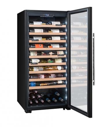 CPF100B1 cave polyvalente 98 bouteilles porte ouverte